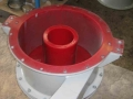 cyclone feed box and vortex finder polyurethane lined