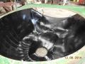 Cane harvester hood  polyurethane liner