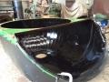 John Deere harvester primary hood polyurethane liner.JPG