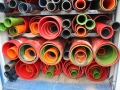 exporting solid polyurethane tubes for launders each colour represents a different process.JPG