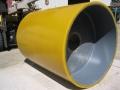 polyurethane lined asphalt roller
