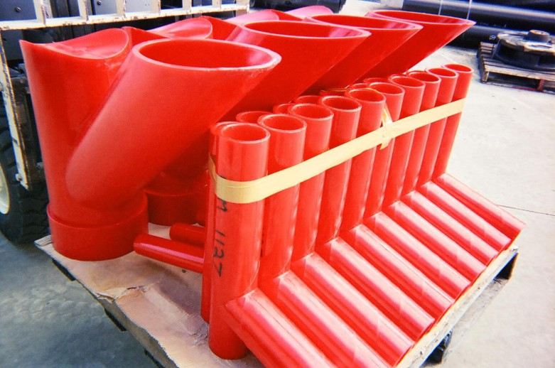 polyurethane custom pipe fittings