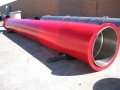 Dredge pipe polyurethane liner