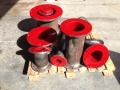 Polyurethane lined spools 23