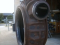 Pump volute lined with polyurethane to extend life