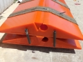 large polyurethane crossover pads for 100t trucks