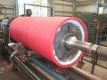 Large polyurethane lined conveyor belt roller